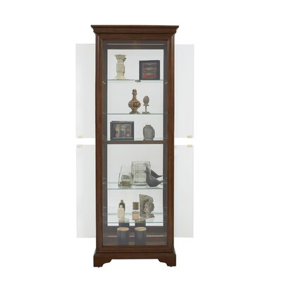 Charbonneau Lighted Curio Cabinet by Darby Home Co