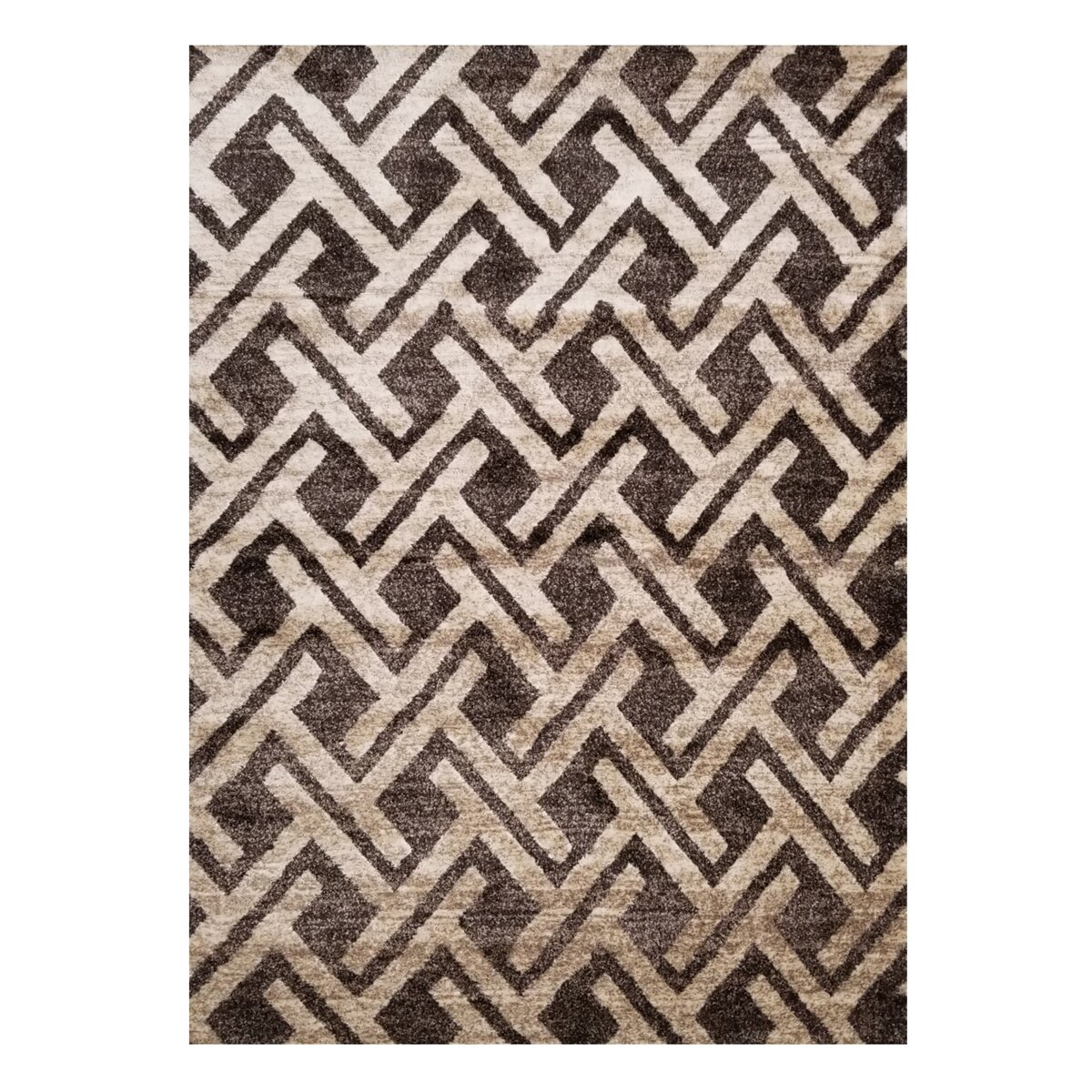 Orren Ellis Eggert Smooth Interlocking Chevron Brown Area Rug Wayfair