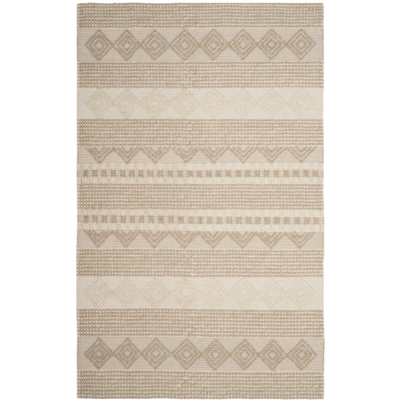 Billie Hand Tufted Wool Cotton Beige Ivory Area Rug