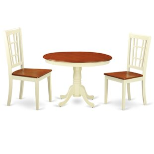 Gareth 3 Piece Dining Set by August Grove