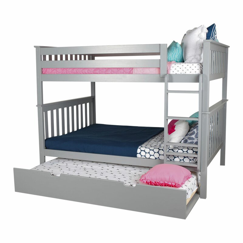 Solid Wood Bunk Bed with Trundle Bed  sc 1 st  Wayfair & Max u0026 Lily Solid Wood Bunk Bed with Trundle Bed u0026 Reviews | Wayfair