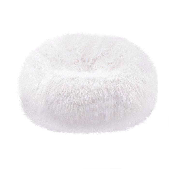 Awe Inspiring Plush Faux Fur Teardrop Slacker Large Bean Bag Chair Squirreltailoven Fun Painted Chair Ideas Images Squirreltailovenorg