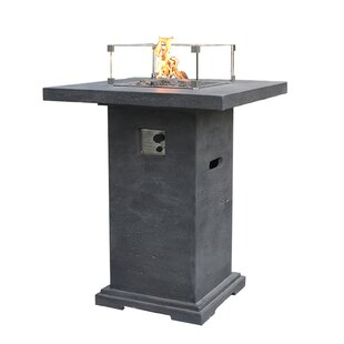 Montreal Stone Gas Fire Pit Table By Elementi