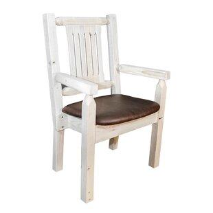 Abella Rustic Arm Chair by Loon Peak