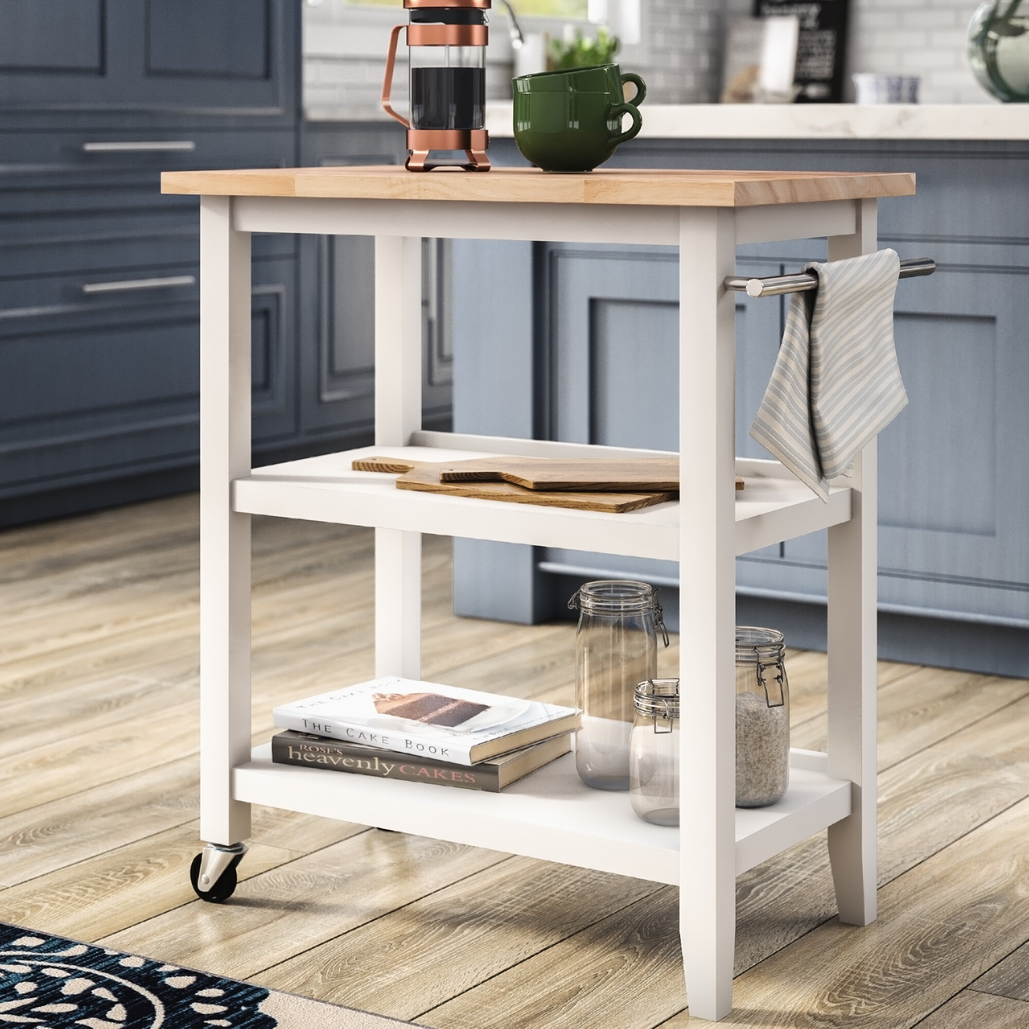 Terrific Andover Mills Raabe Kitchen Cart With Wood Top Reviews Download Free Architecture Designs Scobabritishbridgeorg