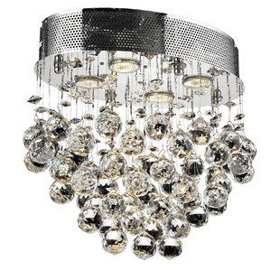 Everly Quinn Deidamia 4-Light Flush Mount