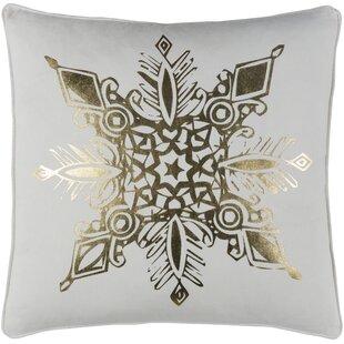 Dreer Snowflake Cotton Throw Pillow