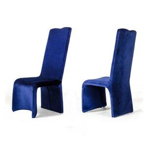 Orren Ellis Clower Upholstered Parsons Chair (Set of 2)