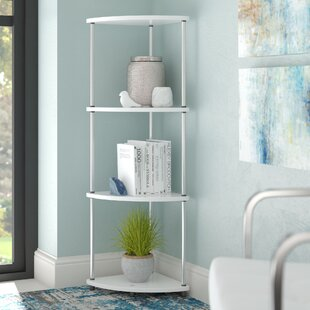 D'Aulizio 4 Tier Corner Unit Bookcase by Ebern Designs Today Sale Only