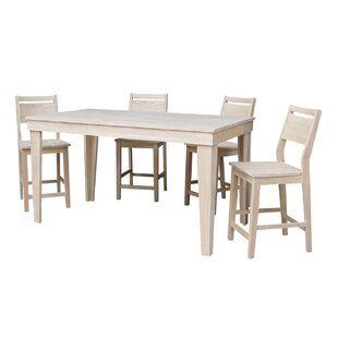 Theodosia 5 Piece Pub Table Set
