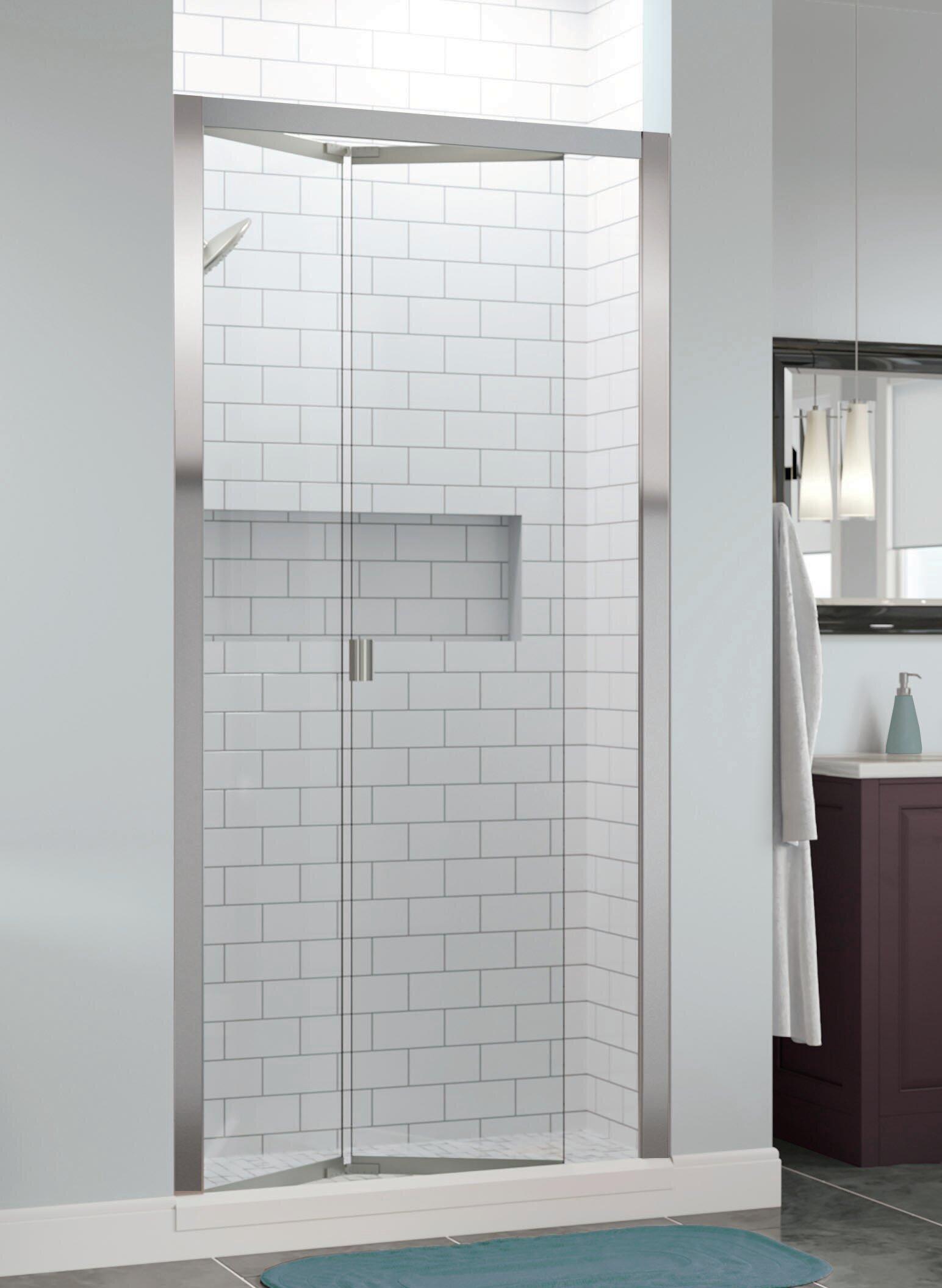 Infinity Bifold 35 X 72 Folding Semi Frameless Shower Door