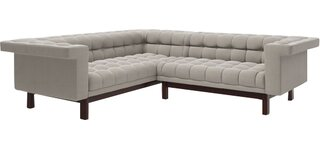 "George 91""x 90"" Corner Sectional Sofa by TrueModern SKU:CA650136 Check Price"