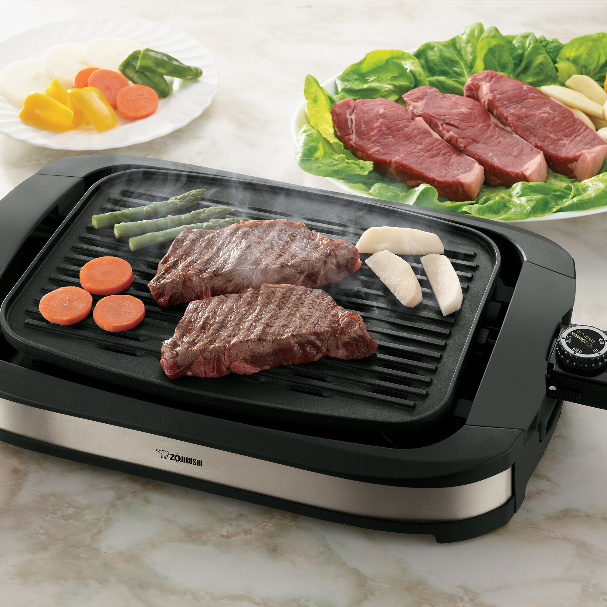 Zojirushi EB-DLC10XT Indoor Electric Grill, Stainless Black