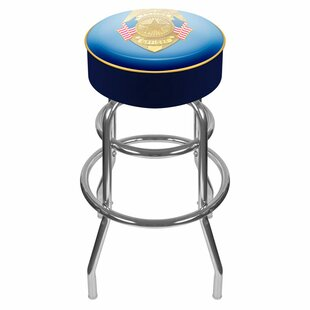 Police Officer 31 Swivel Bar Stool Trademark Global