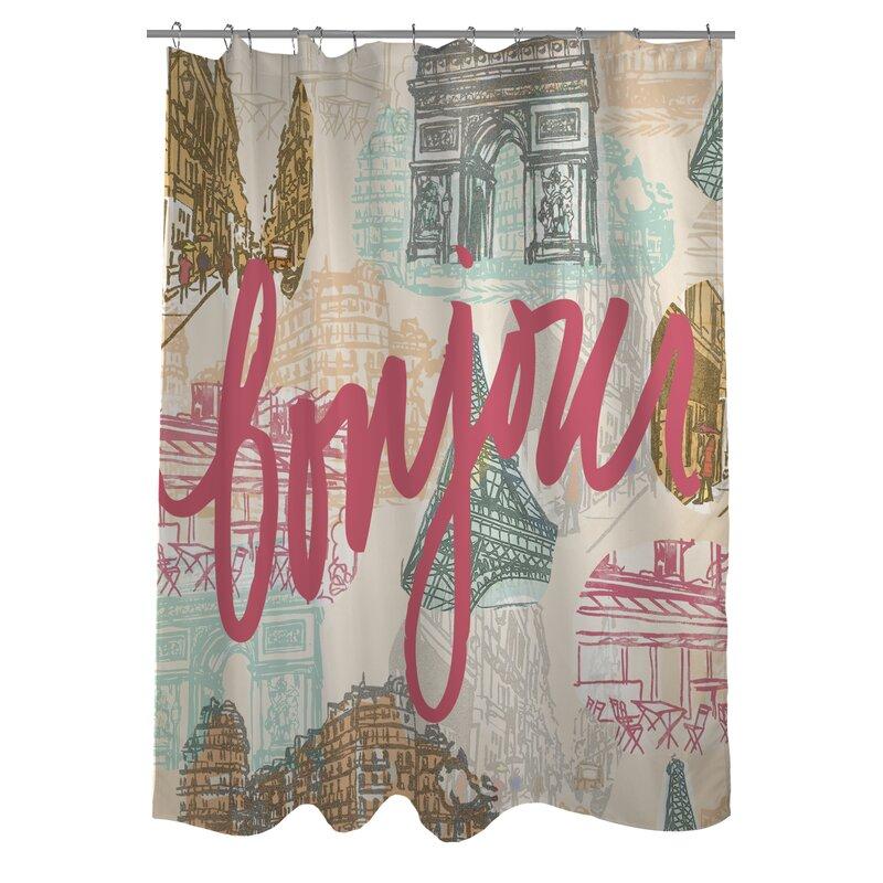 One Bella Casa Paris Shower Curtain