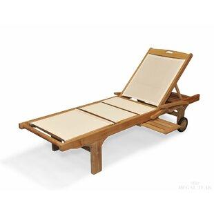 Regal Teak Sling Sun Chaise Lounge (Set of 2)