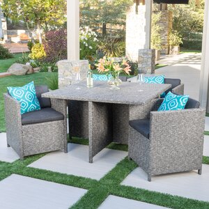 Smail Outdoor 5 Piece Dining Set