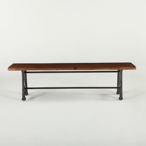 Irondale Wood Bench by World Interiors