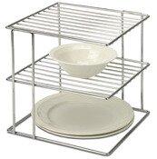 Organize It All 2 Tier Wire Cabinet Corner Shelf
