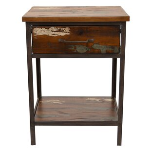 Loon Peak Palladino Wood and Metal End Table
