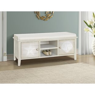Grullon Wood Storage Bench