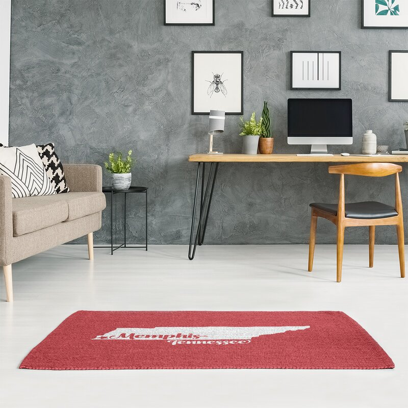 East Urban Home Memphis Tennessee Red Area Rug Wayfair