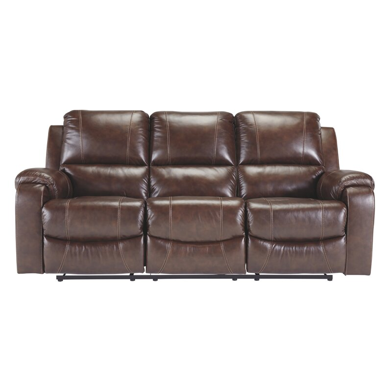 Dunmire Leather Reclining Sofa