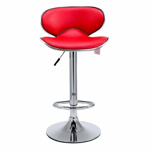Cheyenne Height Adjustable Swivel Bar Stool (Set Of 2) By George Oliver