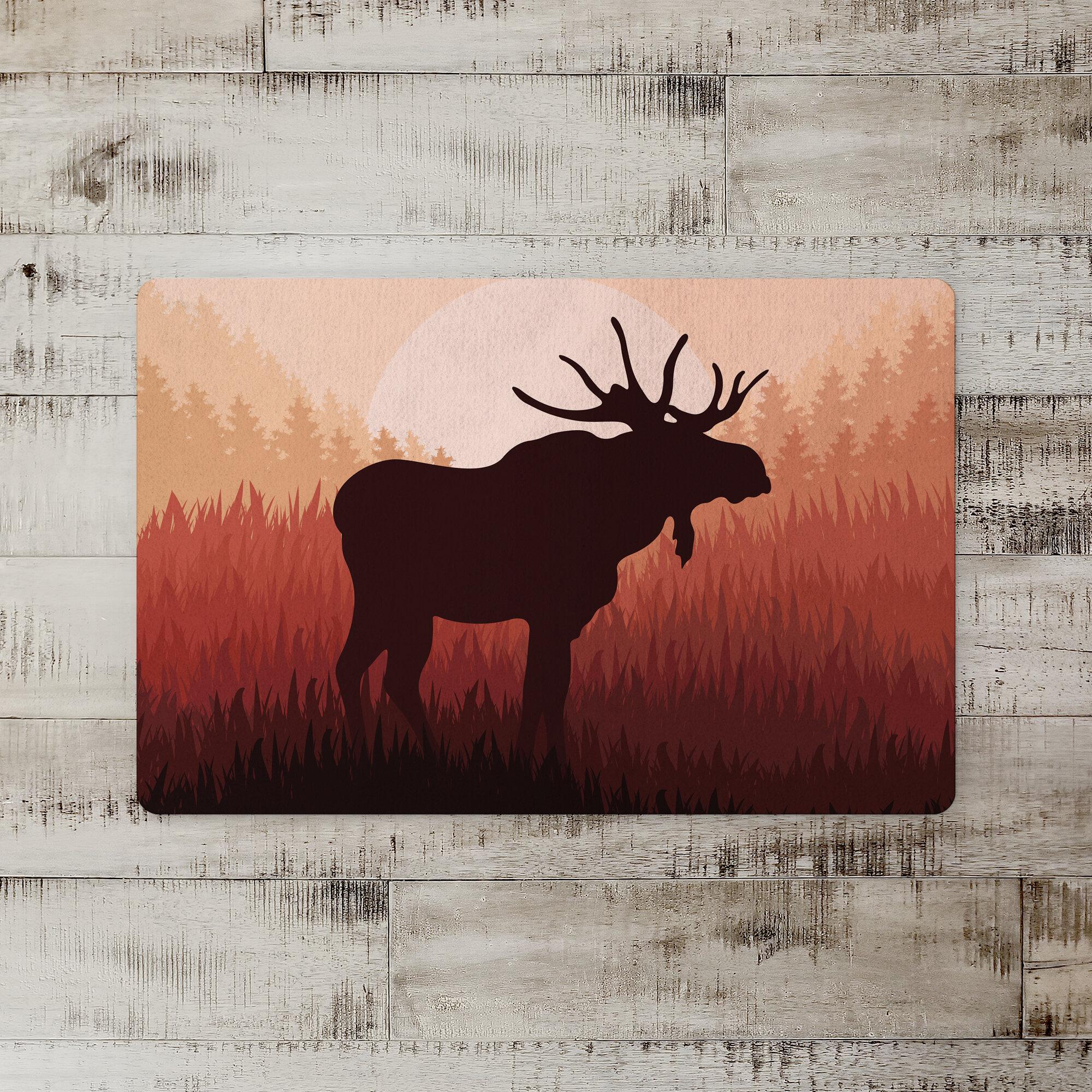 Loon Peak Edinburg Moose Horizon Kitchen Mat Wayfair