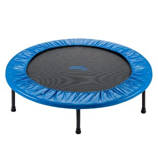 Upper Bounce Two-Way Foldable Rebounder 3' Trampoline with Carry-on Bag