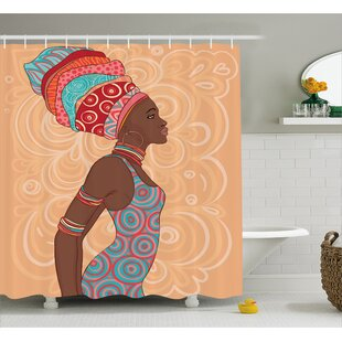 Read Reviews Hansali Ethnic Tribal Woman Shower Curtain By World Menagerie