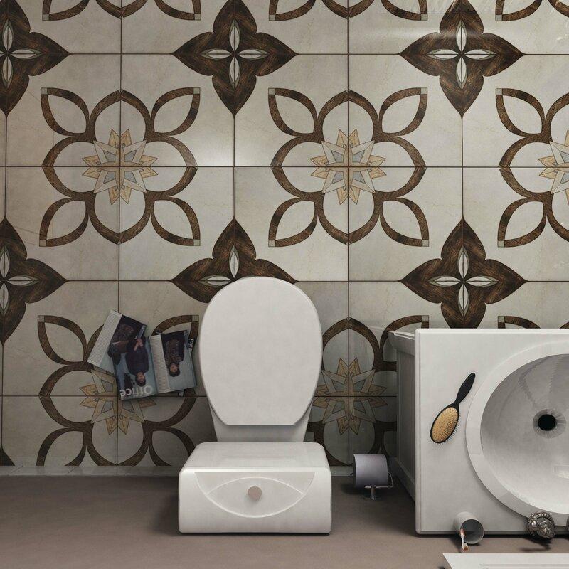 Argas 17 75 X Ceramic Field Tile In Brown Beige