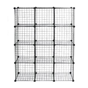 Licata 5787 H x 437 W Metal Cube Bookcase