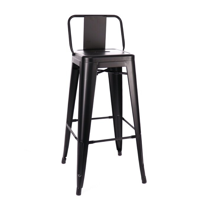 Outstanding Briele Steel Low Back 30 Bar Stool Andrewgaddart Wooden Chair Designs For Living Room Andrewgaddartcom