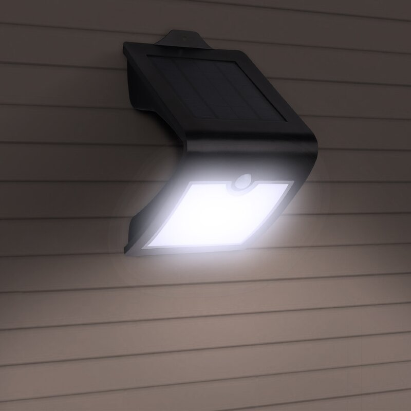 Solar Powered Motion Sensor 118 LED Security Wall Light Outdoor Gate Garden Lamp