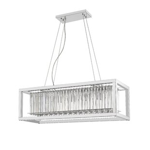 Victory III 6-Light Rectangle Pendant by Ove Decors