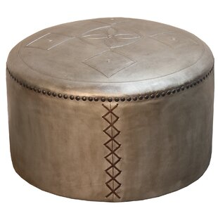 Pascual Puff Leather Pouf Ottoman by Bloomsbury Market