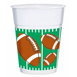 Football Plastic Disposable Cup (Set of 3)