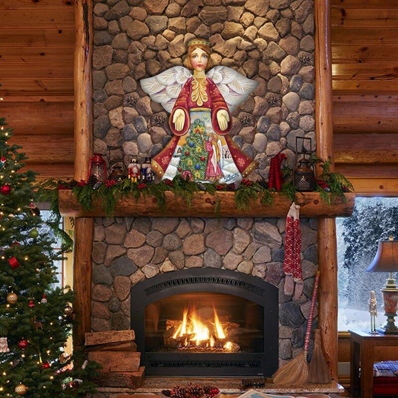 Angel Shaped Christmas Tree.Christmas Tree Angel Holiday Shaped Ornament