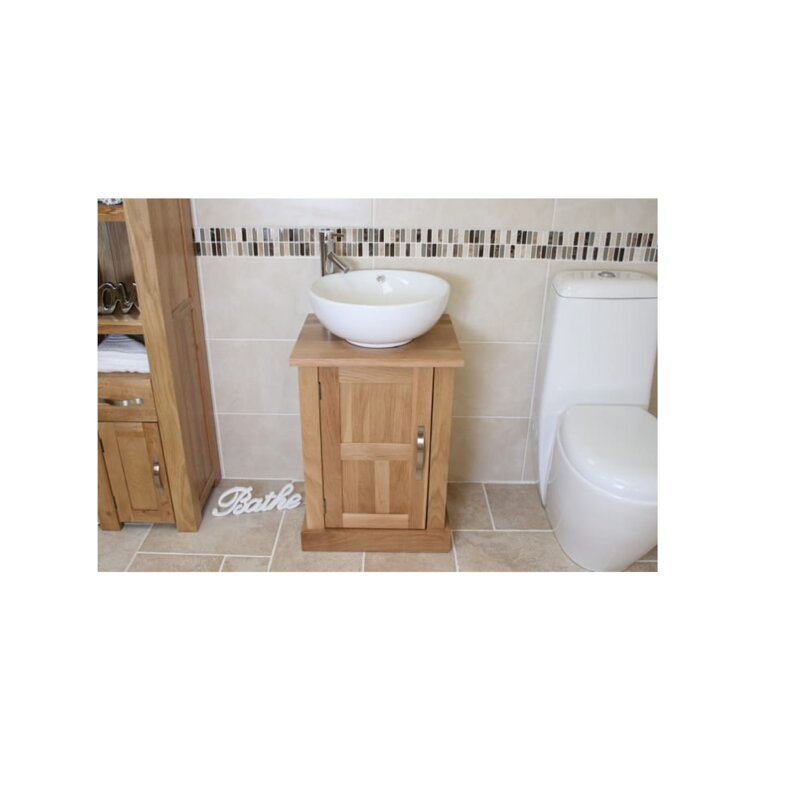 Belfry Bathroom Counts Compact Solid Oak 500mm Free Standing