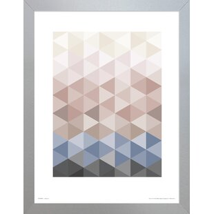 Geometric Trianglesu0027 Framed Graphic Art Print