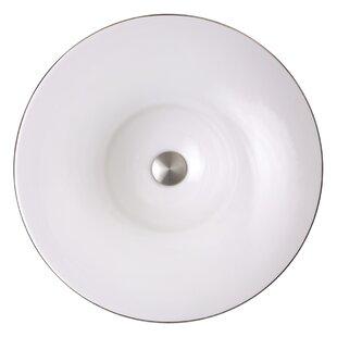 Nantucket Sinks Regatta Ceramic Circular Vessel Bathroom Sink