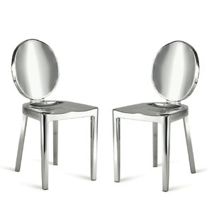Poppe Arm Less Dining Chair (Set of 2) by Orren Ellis
