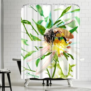 Suren Nersisyan Bee and Flower Single Shower Curtain
