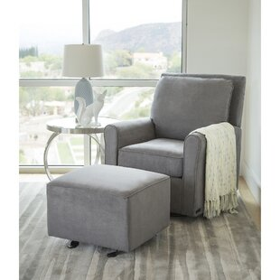 Barnwell Swivel Armchair and Ottoman