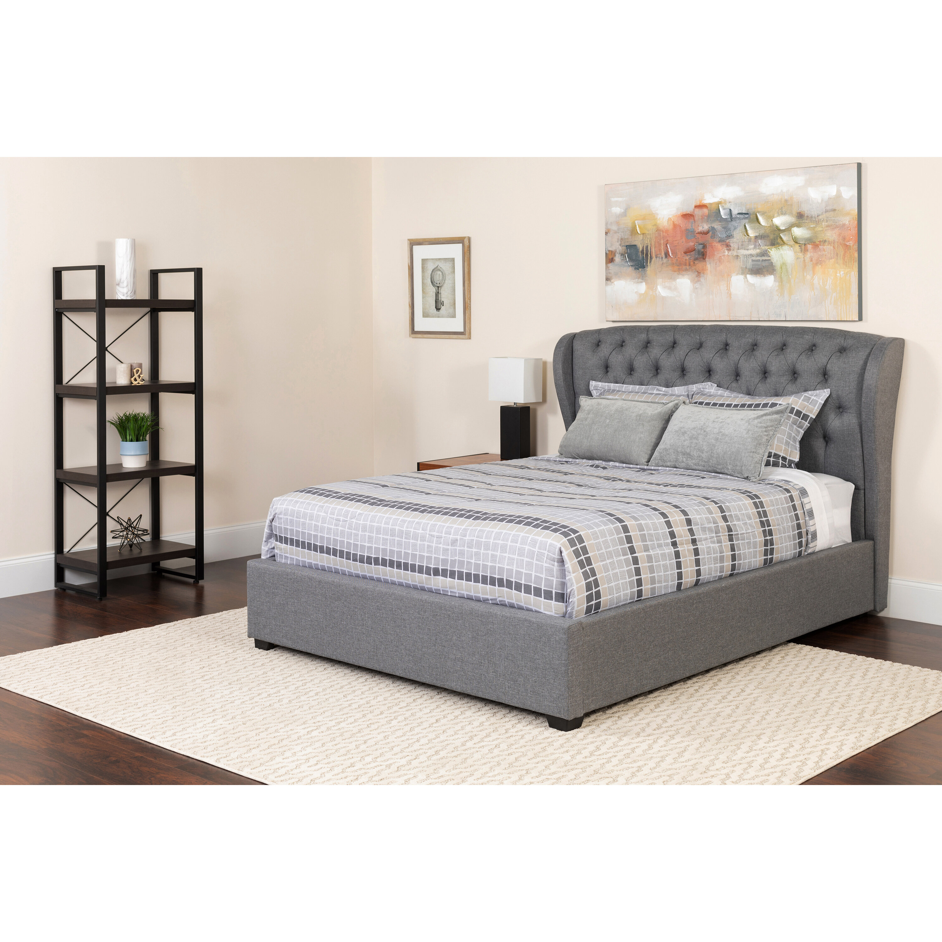 Tremendous Haleigh Tufted Platform Bed With Mattress Caraccident5 Cool Chair Designs And Ideas Caraccident5Info