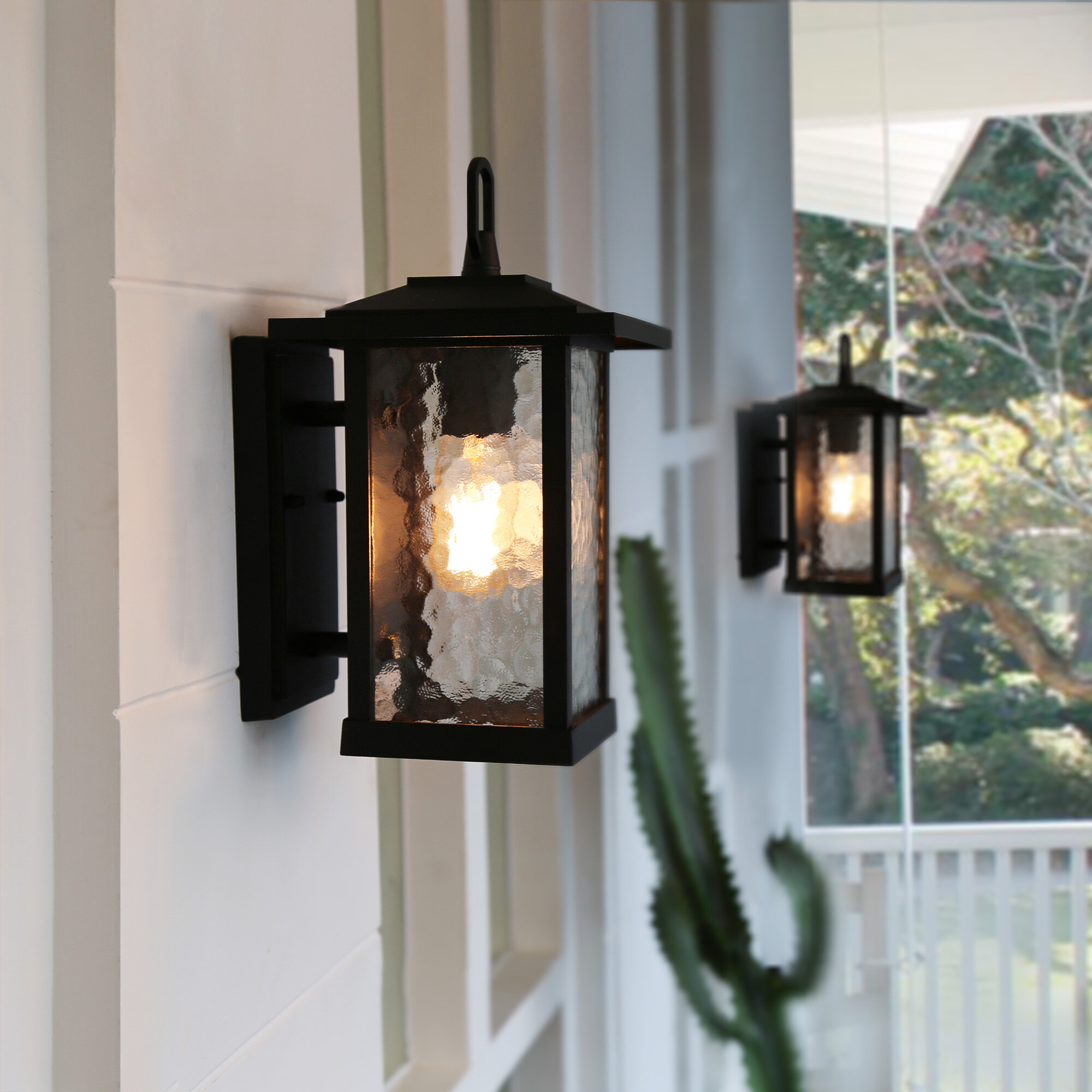 Longshore Tides Cosimo Light Outdoor Wall Lantern Reviews Wayfair