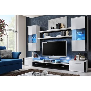 Voight Fresh LED Lights Entertainment Center for TVs up to 65
