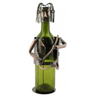Saxophone Player 1 Bottle Tabletop Wine R..