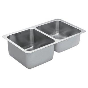 Moen 1800 Series Double Bowl Kitchen Sink